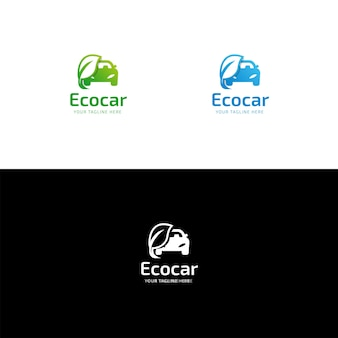 Eco auto-logo ontwerp