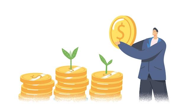 Eco business maatschappelijk verantwoord ondernemen, groene co2-belasting illustratie