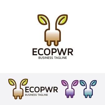 Eco-energie logo sjabloon