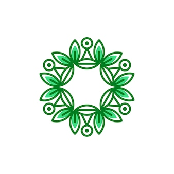 Eco floral logo sjabloon vectorillustratie