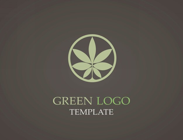 Eco groen blad logo sjabloon.