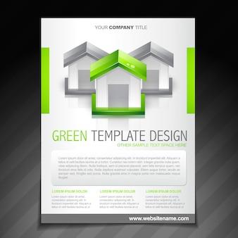 Eco groene brochure folder poster sjabloon