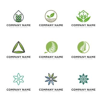 Eco groene logo set