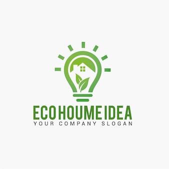 Eco houme idee logo