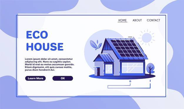 Eco huis. hernieuwbare energie. milieuvriendelijke architectuur. dorpsleven. global warming, zero waste en greenpeace-concept