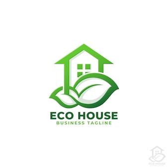 Eco huis. natuur huis logo