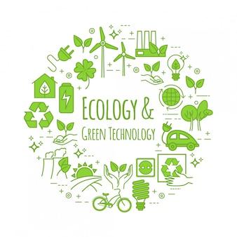 Eco levensstijl, sjabloon. nul afval concept, recyclen en hergebruiken