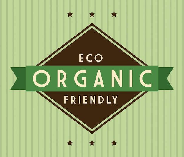 Eco-ontwerp over groene achtergrond vectorillustratie