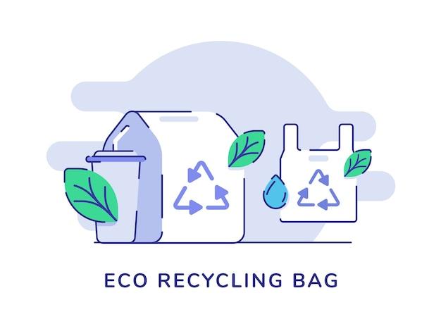 Eco recycling zak plastic voedselverpakkingen