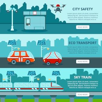 Eco smart city banners