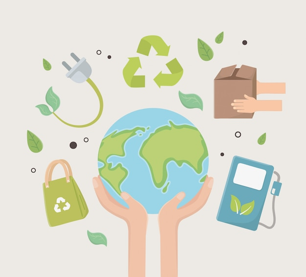 Eco-stad en veilig planeetontwerp
