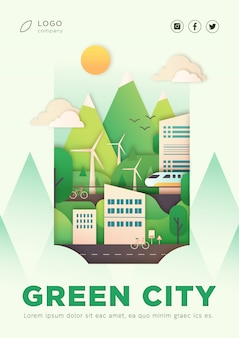 Eco stad landing poster