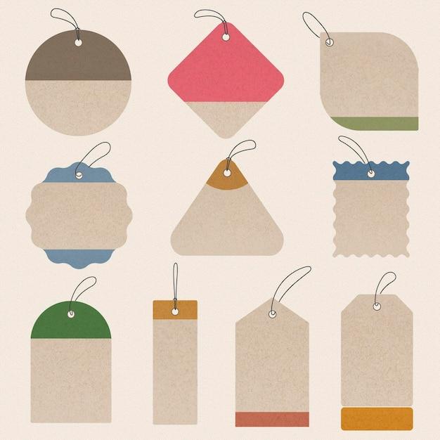 Eco tag sticker, lege vector eenvoudige clipart ontwerp ruimte collectie
