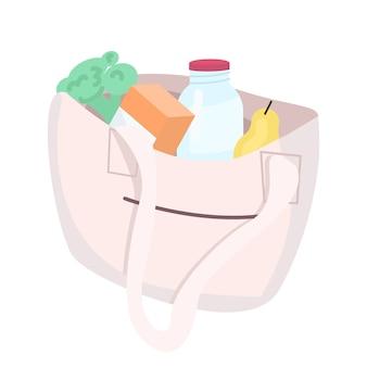 Eco tas met producten cartoon afbeelding