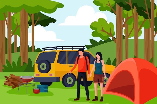 Eco-toerisme concept