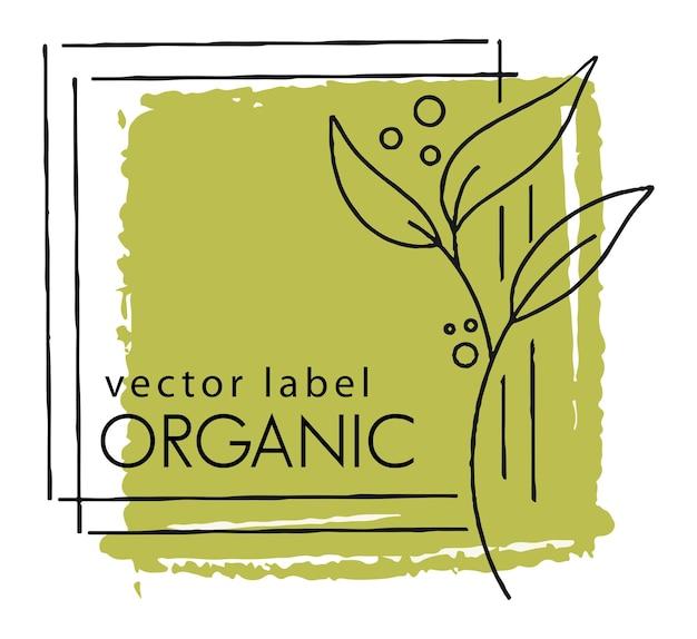 Eco-vriendelijk label voor biologisch en natuurlijk product