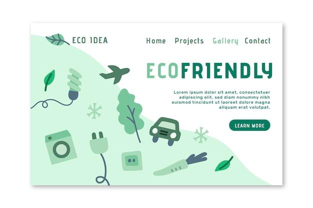 Eco-vriendelijke bestemmingspagina