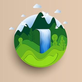 Eco-vriendelijke concept.