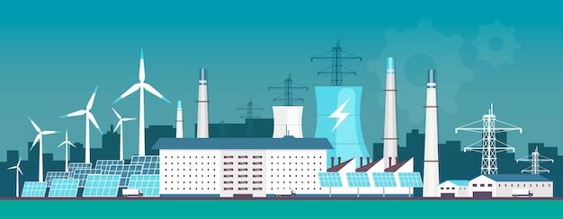 Eco-vriendelijke energiecentrale