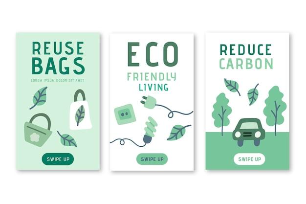 Eco-vriendelijke instagram-verhalen