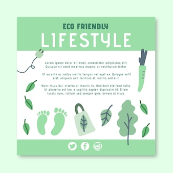 Eco-vriendelijke vierkante flyer