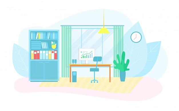 Eco-vriendelijke werkplek in smart business center