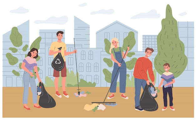 Eco-vrijwilligers buitenshuis