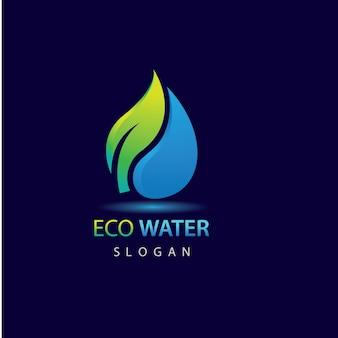 Eco water logo sjabloon