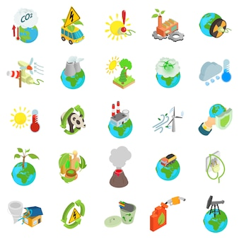 Eco wereld icon set