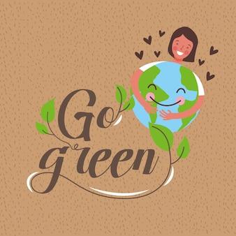 Ecologie aarde dag concept