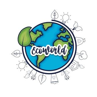 Ecologie aarde planeet om milieuzorg