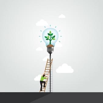 Ecologie achtergrond ontwerp