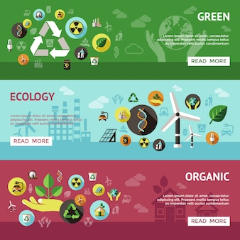 Ecologie banner set