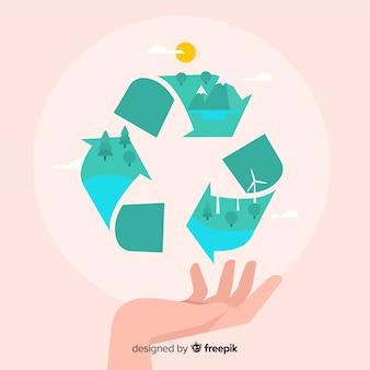 Ecologie concept achtergrond plat ontwerp