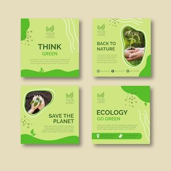 Ecologie concept berichten collectie