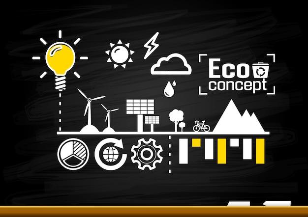 Ecologie concept. bewaar wereld illustratie