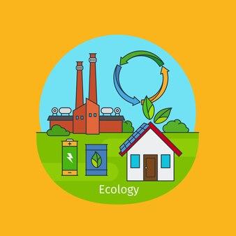 Ecologie concept illustratie
