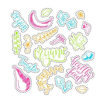 Ecologie concept - ontwerpelement gemaakt van stickers