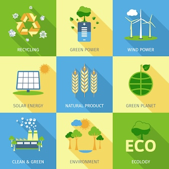 Ecologie concept set