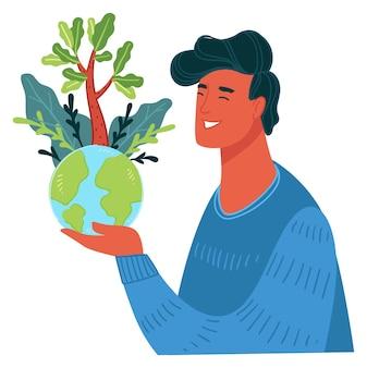 Ecologie en zorg voor het milieu van de planeet aarde