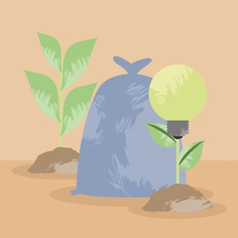 Ecologie gloeilamp en plant