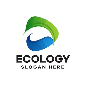 Ecologie gradiënt logo ontwerp