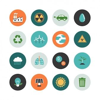 Ecologie icoon collectie