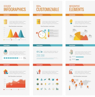 Ecologie infographic elementen