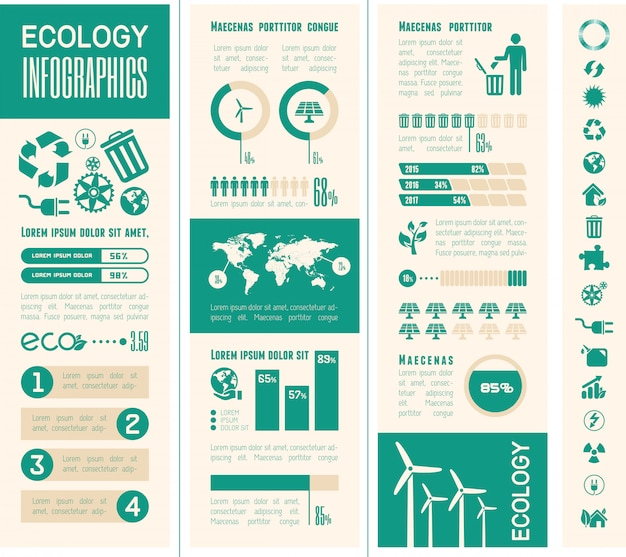 Ecologie infographic sjabloon.