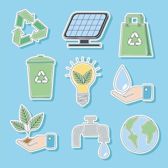 Ecologie negen pictogrammen