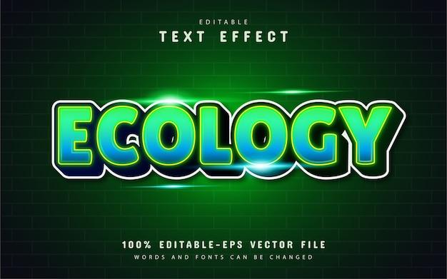 Ecologie teksteffect met verloop