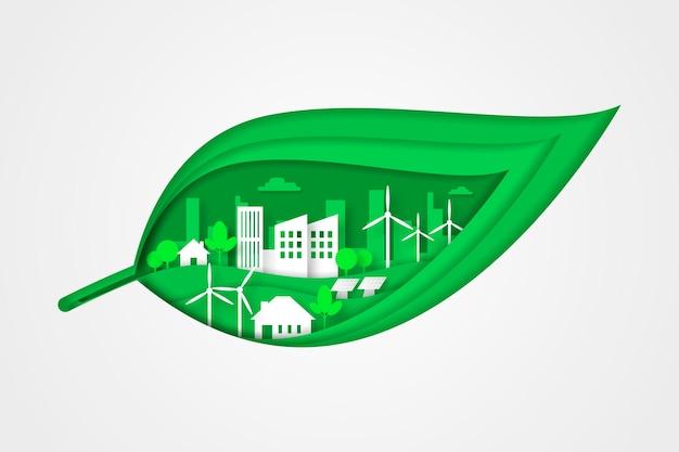 Ecologieontwerp in papierstijl