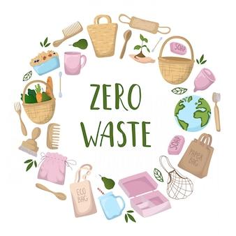 Ecologisch concept - eco tassen, bestek, spullen
