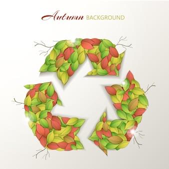 Ecologisch concept met herfstbladeren